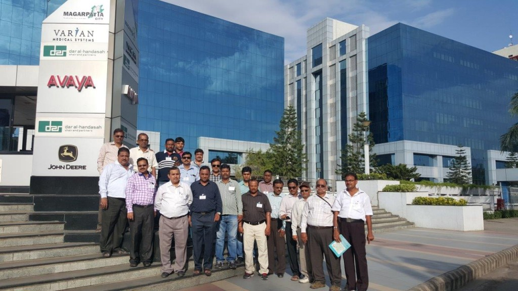 20 Engineers of MHADA visit to study Magarpatta City on 3rd Sept 2015