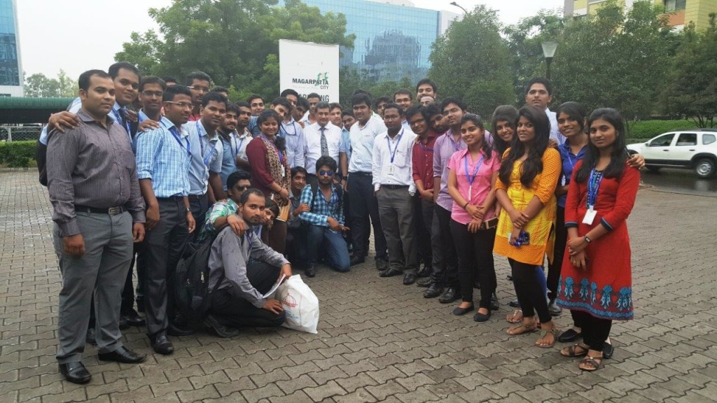 MIT COLLEGE PUNE PROJECT & CONSTRUCTION MANAGEMENT AND BE CIVIL 80 STUDENTS VISIT ON 9TH SEPT 2015