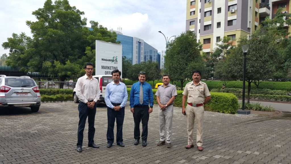 Mckinsey team from Gurgaon visit to sudy Magarpatta City on 10th September 2015