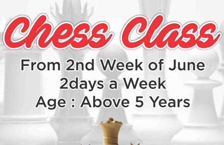 Chess Class from 2nd June 2016 at Roystonea Club House