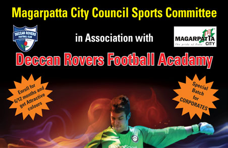 Deccan Rovers Football Acadamy at School Playground opp. Destination Center