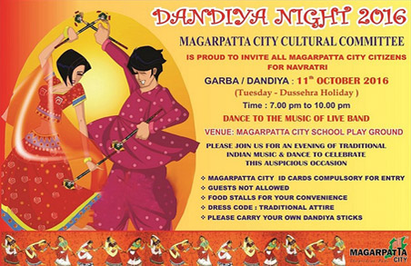 Dandiya Night on Tuesday, 11th October, 2016