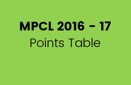 MPCL 2016 – 17 Points Table