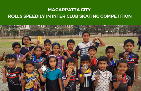 Magarpatta City kids roll speedily in Inter Club Skating Competition