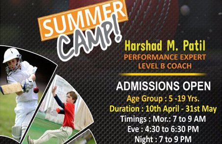 Summer Camp – admissions open