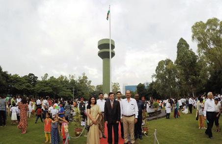 Independence Day 2018 flag hoisting at the hands of Dr. Zafer Amanulla Khan, Director- Noble Hospital