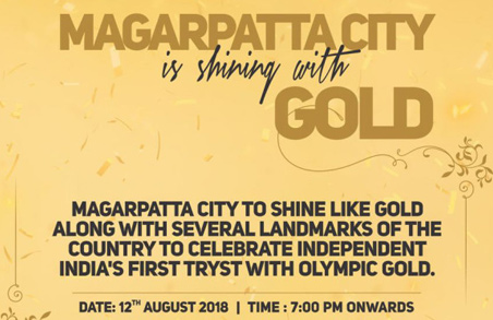 Magarpatta City is shining with gold