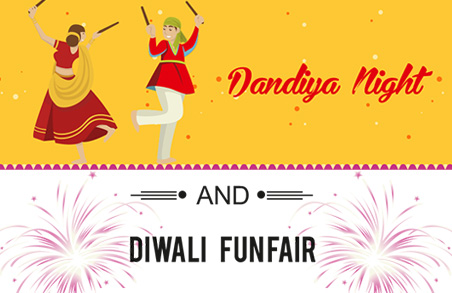 Invites Magarpattacity Citizens For Navratri Dandiya Night 2019