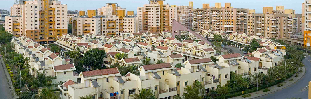 A-panoramic-view-of-Magarpatta-City-residential-neighborhoods